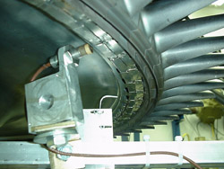 Photo of turbine being tested